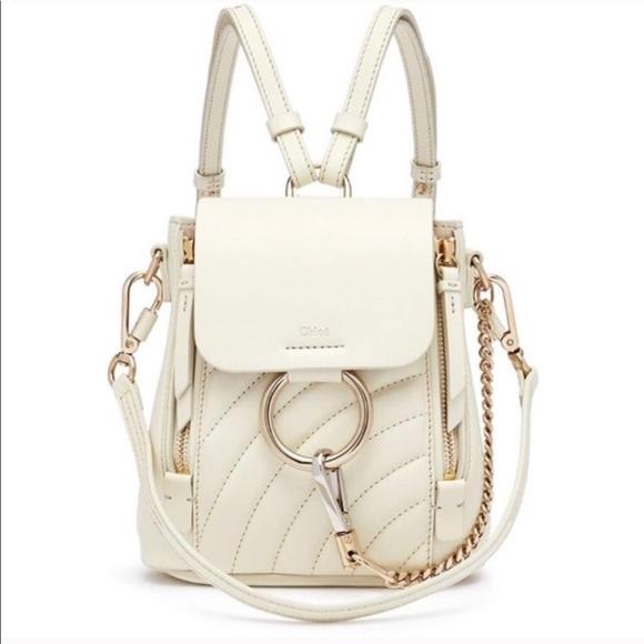 ec217ed7 Chloé Faye Quilted Mini Backpack